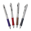 Bellagio Bettoni 4-in-1 Combination - 4-in-1 combo pen with solid brass construction, metallic rubberized grip, blue and black ink, pencil and stylus tip.