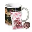 11 oz. Full Color Mug with Hot Cocoa - Full color mug with mug drops.