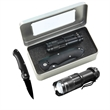 Gift Set - Gift set includes 1W Multi Power Zoom Cree Flashlight and Stainless Steel Lock back Knife.