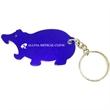 Hippo shape bottle opener key chain