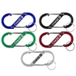 S Shaped Carabiner with Key Ring