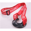 Water Bottle Holder Lanyard - Polyester lanyard with a black rubber piece made for holding water bottles.