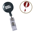 """Round Secure-A-Badge™ - Retractable badge holder with 30"""" nylon cord, snap lock and side clip."""
