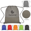 Non-Woven Wave Design Drawstring Bag - Drawstring backpack made of 80 gram nonwoven polypropylene available in multiple colors.