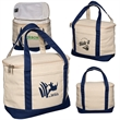 Cotton Cooler Lunch Tote - Insulated cotton lunch tote.