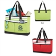 Fashionable Roomy Tote Bag - Tote bag made of 600 denier polyester with two front pockets and top zippered closure.