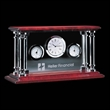 Carlson - Clock - Clock / thermometer / humidistat with chrome pillars and rosewood top and bottom.