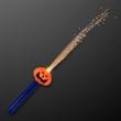 Imprinted pumpkin face fiber optic LED wands