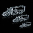 Optical 18 Wheeler Award - Optical crystal 18 wheeler truck shape award.