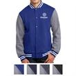 Sport-Tek Fleece Letterman Jacket - Fleece letterman jacket made from 65/35 ringspun combed cotton/poly fleece.