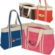 Newport Tote - Everyday tote bag made of all natural 10 oz. cotton with contrasting trim and handles in natural color cotton fabric