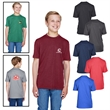 Team 365®  Youth Sonic Heather Performance T-Shirt - Youth moisture wicking performance polyester t-shirt.