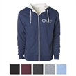 Independent Trading Company Unisex Heavyweight Sherpa Lin... - Unisex Sherpa-lined heather zip hoodie with antique nickel accents on two drawcords, the exposed zipper, and eyelets.