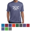 Sport-Tek Heather Contender Tee - 100% polyester jersey T-shirt that's breathable, snag resistant, and features moisture wicking.