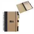 RECYCLED CARDBOARD NOTEPAD - Recycled cardboard notepad with 100 sheets of lined 80% recycled paper.