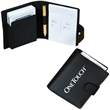 PLAYING CARD HOLDER - Travel size bonded leather playing card holder with elasticized pocket.