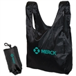 FOLDING TOTE IN A POUCH - Lightweight Polyester folding tote in a pouch.