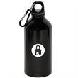 500 ml (17oz.) ALUMINUM WATER BOTTLE WITH CARABINEER - Aluminum water bottle with carabiner, 17 oz.