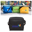 COOLER/LUNCH BAG - Cooler/lunch bag. Inside gray PEVA liner. Three sided top zipper closure.