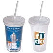 500 ML. (17 OZ.) DOUBLE WALL REMOVABLE TUMBLER - 17 oz. double walled acrylic tumbler with removable insert.