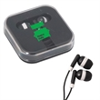 EARBUDS - Earbuds pack in ABS travel case with clear lid.