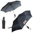 "PINSTRIPE FOLDING UMBRELLA - Pinstripe folding umbrella, 46"" arc."