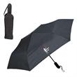 "CLASS DRY FOLDING UMBRELLA - Folding umbrella with Hook & Loop tie closure and 46"" arc."