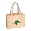 NIFTY GREEN KRAFT PAPER TOTE - Green Kraft Paper Tote, 220 GSM heavy weight Kraft Paper, Matching colored non-woven trim and carry handles/straps.