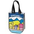 E-Z IMPORT? TO4511 RECYCLED FASHION TOTE - Order our tote bag with 1-4 spot colors or four color process decorating on the front and back of the bag.