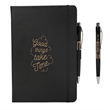 CARMELIA PU HARD COVER JOURNAL - Hard cover journal with pen.