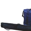 Tube shape cooler bag - Nylon tube shape six pack cooler with full length zipper opening.