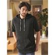 Alternative Eco-Fleece Baller Short Sleeve Hoodie - Eco-fleece pullover hoodie with kangaroo pocket