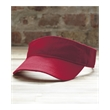 Anvil Solid Visor - Adjustable sun visor available in five colors with a matching sweatband, pre-curved bill, and three-panel, low-profile design.