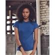 Anvil Women's Lightweight Ringspun Fitted T-Shirt - Women's preshrunk semi-sheer crewneck t-shirt. Blank product.