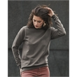 Anvil Women's Crewneck Sweatshirt - Women's crewneck sweatshirt made of cotton/polyester with triple-needle stitching and a missy contoured silhouette.