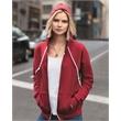 Anvil Women's Full-Zip Hooded Sweatshirt - women's full zip hooded sweatshirts that's perfectly practical. Blank.