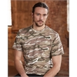 Anvil Midweight Camouflage T-Shirt - Adult camouflage cotton t-shirt. Blank product.