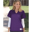 Augusta Sportswear Women's Replica Football Jersey - 3.35 oz., 100% polyester tricot mesh Juniors' replica football t-shirt.