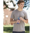 Augusta Sportswear Kinergy Heathered Training T-Shirt - Cationic dyed tee with mitered crewneck collar.