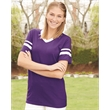 Augusta Sportswear V-Neck Jersey with Striped Sleeves - V-neck jersey with striped sleeves. Blank product.