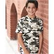 Badger Youth Camo T-Shirt - Badger Youth Camo Short Sleeve T-Shirt, blank.