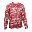 Badger Youth Digital Camo Long Sleeve T-Shirt - Youth long sleeve T-shirt made with 100% sublimated digital camo polyester.