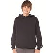 Badger Youth Hooded Sweatshirt - Youth sweatshirt with two-ply hood and spandex-reinforced rib-knit cuffs and waistband.