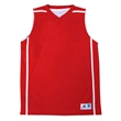 Badger Youth B-Core B-Line Reversible Tank Top - Reversible youth performance fabric tank