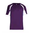 Badger Youth B-Core Hook Placket Jersey - Moisture management youth jersey
