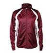Badger Women's Hook Brushed Tricot Jacket - Women's 100% polyester brushed tricot jacket with two front pockets, open bottom with bungee cord and toggles, and covered elastic