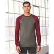 BELLA + CANVAS Long Sleeve Jersey Baseball Tee - Adult long sleeve raglan baseball t-shirt. Blank product.