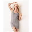BELLA + CANVAS Women's Jersey Tank Dress - Comfy cotton jersey tank dress. Blank product.