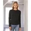 BELLA + CANVAS Women's Jersey Long Sleeve Tee - Women's long sleeve crewneck jersey t-shirt. Blank product.