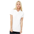 BELLA + CANVAS Women's Cotton Spandex Mini Pique Sport Shirt - Women's mini pique polo made of cotton/spandex with a rib collar and cuffs, four tonal buttons on a slim placket, and side seams.